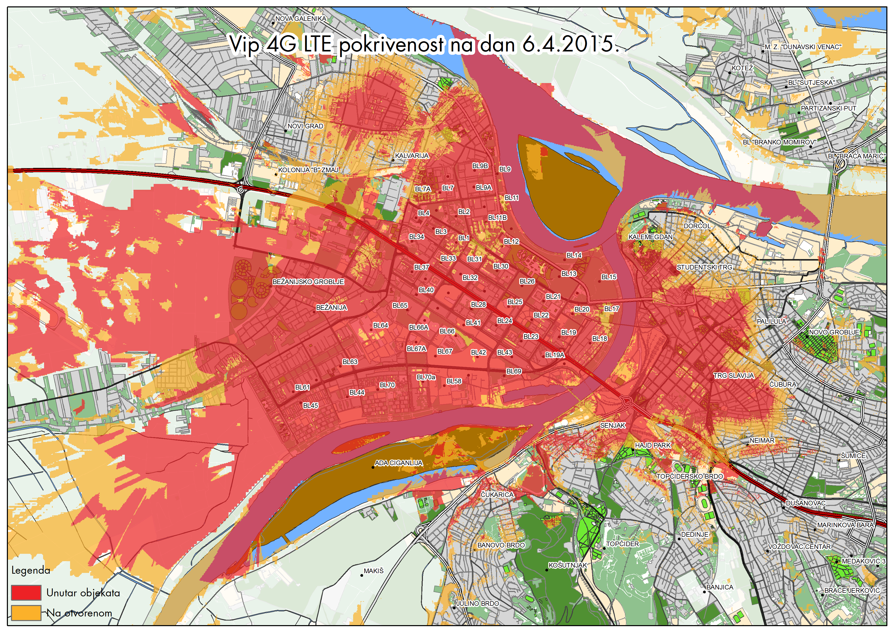 vip mapa pokrivenosti Vip Mobile LTE (4G) realan test   Zverko.rs vip mapa pokrivenosti