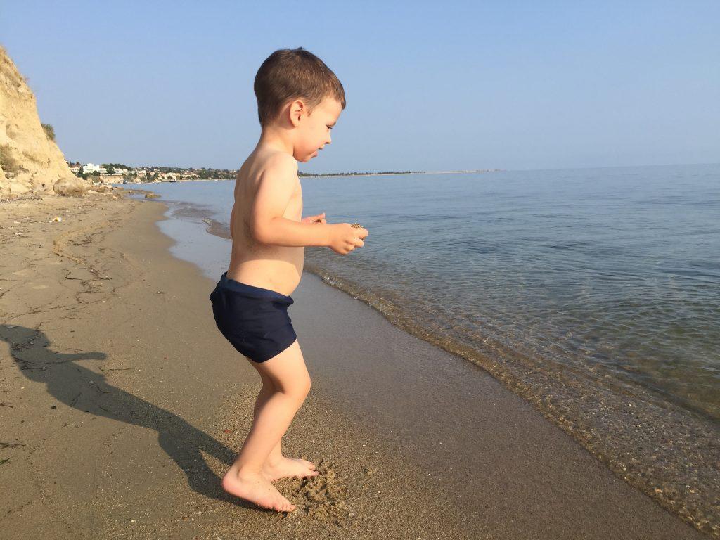 Uživanje na maloj privatnoj plaži