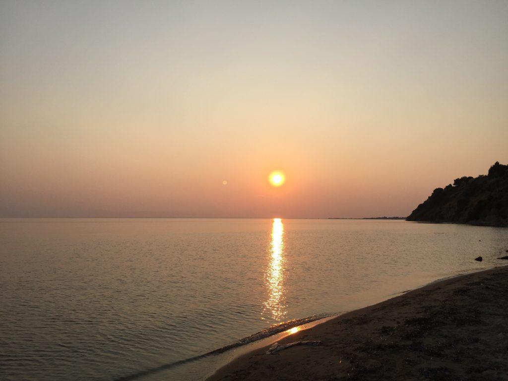 zalazak sunca Nea Iraklia