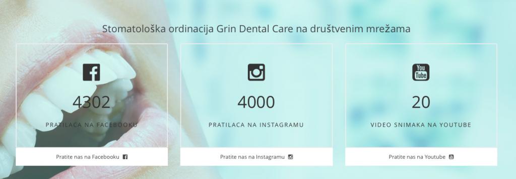 Grin Dental društvene mreže